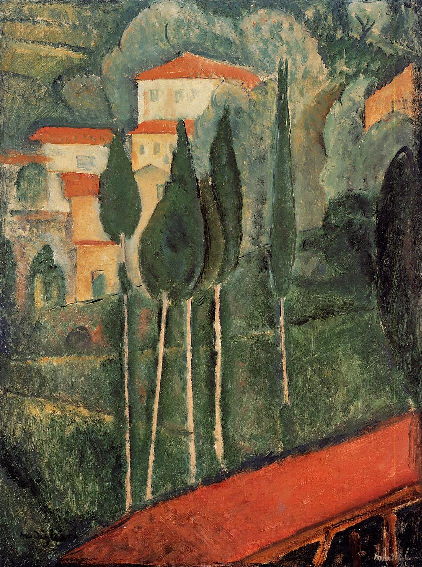 Landscape Southern France Amedeo Modigliani Wikiart Org