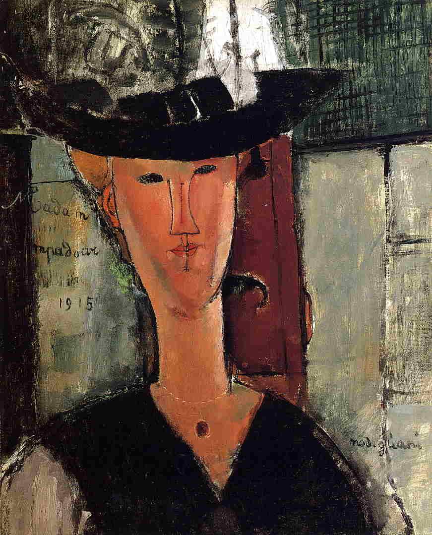 Amedeo Modigliani (It, 1884-1920) - Hanka Zborowska - 1917