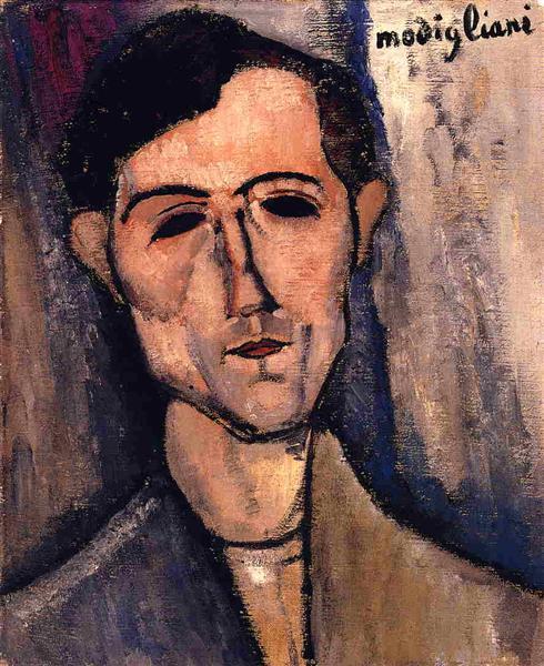 Man's Head (Portrait of a Poet), c.1915 - Amedeo Modigliani