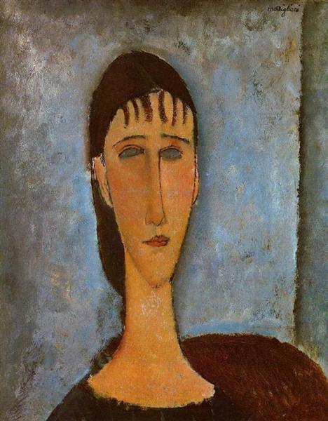 Portrait of a Young Girl, 1910 - Amedeo Modigliani