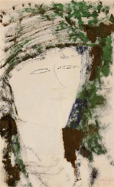 Portrait of Beatrice Hastings, c.1916 - Amedeo Modigliani
