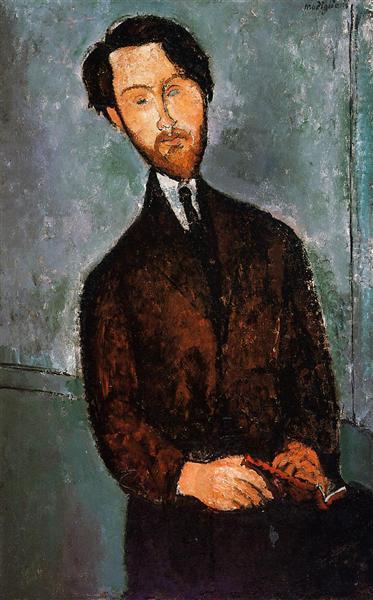 Portrait of Leopold Zborowski, c.1916 - Amedeo Modigliani