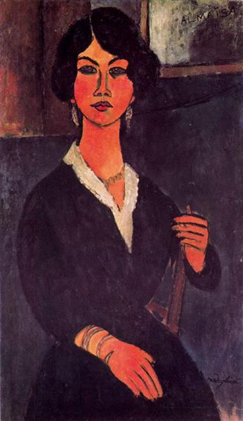 Seated Algerian Almaiisa, 1916 - Amedeo Modigliani