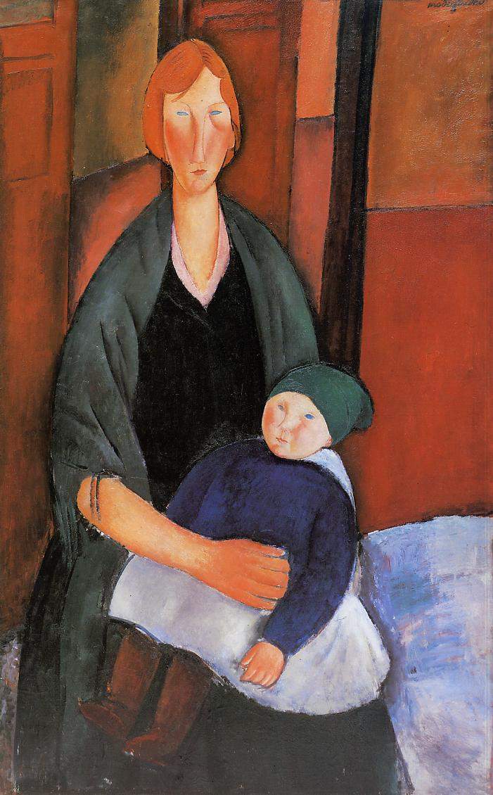 Seated Woman With Child Motherhood 1919 Amedeo
