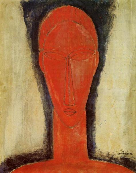 Study of a Head, 1913 - Amedeo Modigliani