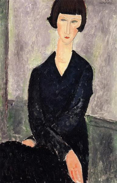 The Black Dress, 1918 - Amedeo Modigliani