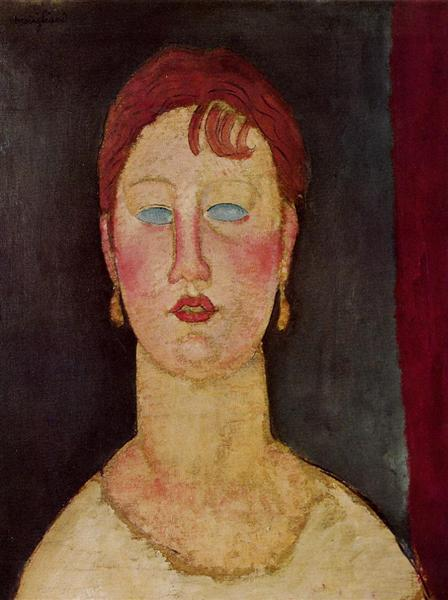 The Singer from Nice, c.1919 - Amedeo Modigliani