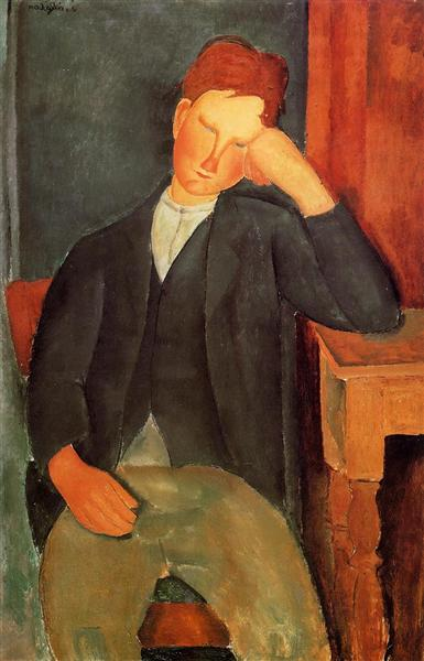 The young apprentice, c.1918 - Amedeo Modigliani