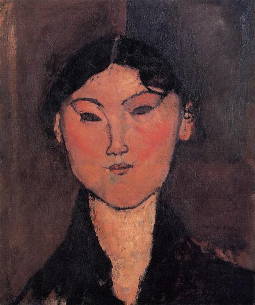 Woman's Head (Rosalia), c.1915 - Amedeo Modigliani