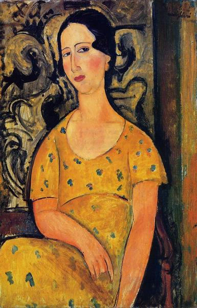 Young Woman in a Yellow Dress (Madame Modot), 1918 - Amedeo Modigliani