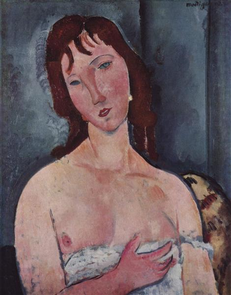 Young woman, c.1918 - Amedeo Modigliani