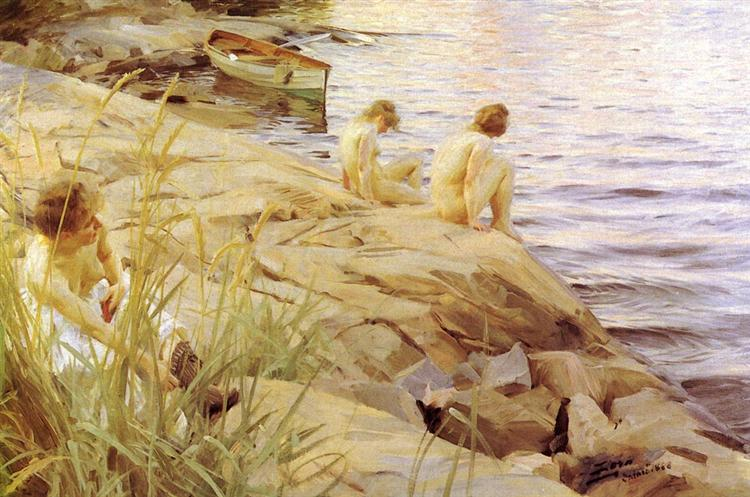 Out, 1888 - Anders Zorn