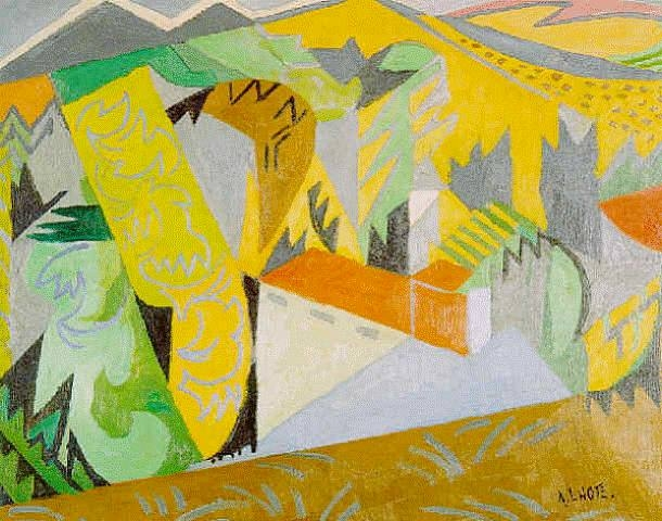 Mirmande jaune, 1956 - André Lhote