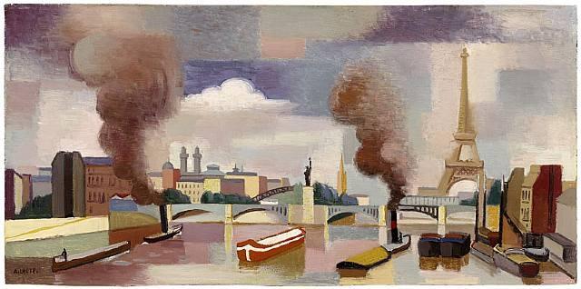 Vue de Paris ou La Seine au point du jour - André Lhote