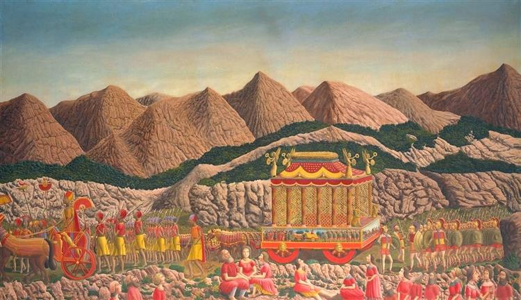 The Funeral Procession of Alexander the Great, 1940 - Andre Bauchant