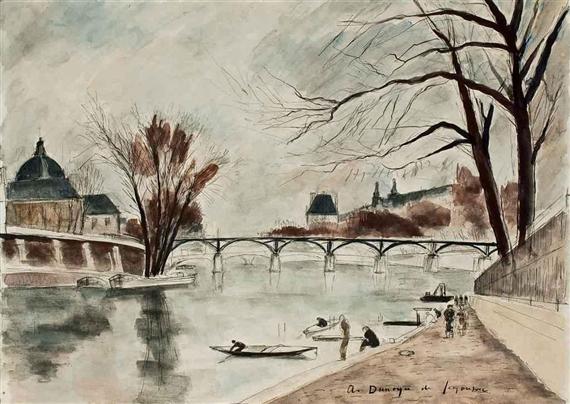 Le Pont des Arts, Paris - André Dunoyer de Segonzac