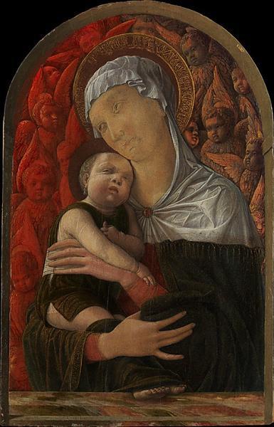 Madonna and Child with Seraphim and Cherubim, c.1454 - Андреа Мантенья