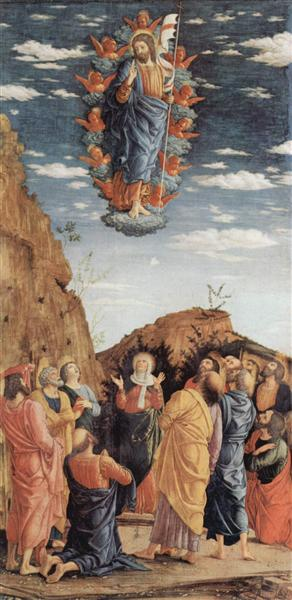 The Ascension, left hand panel from the Altarpiece, c.1461 - Andrea Mantegna