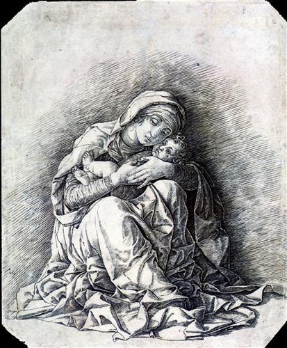 Virgin and Child (Madonna of Humility) - Andrea Mantegna
