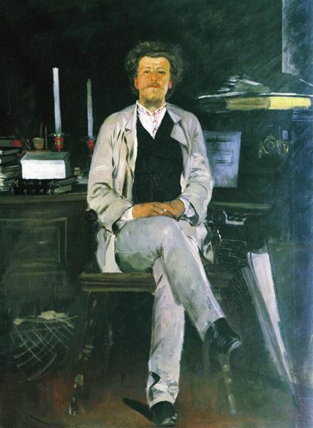Portrait of I. F. Tyumenev, 1886 - Андрей Рябушкин