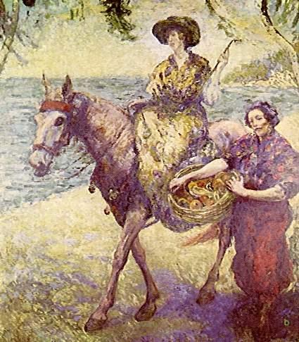 En la playa de Macuto, 1904 - Andres de Santa Maria