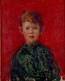 Niño vestido de verde - Andres de Santa Maria