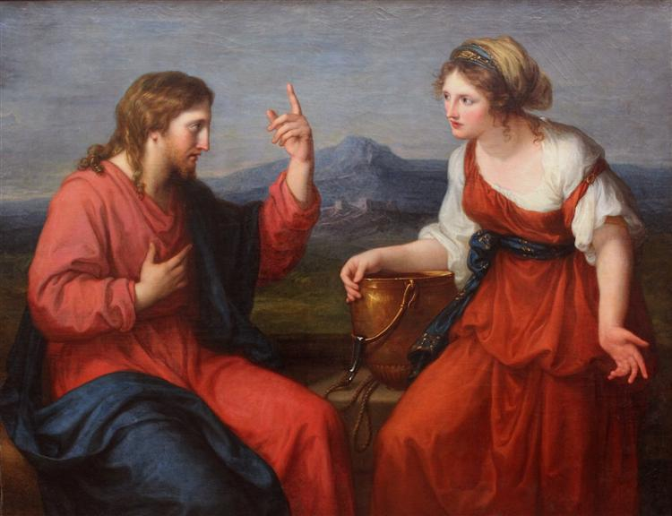 Christ and the Samaritan woman at the well, 1796 - Angelica Kauffmann