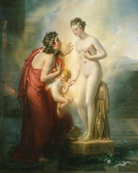 Pygmalion et Galatée, 1819 - Анн-Луи Жироде-Триозон