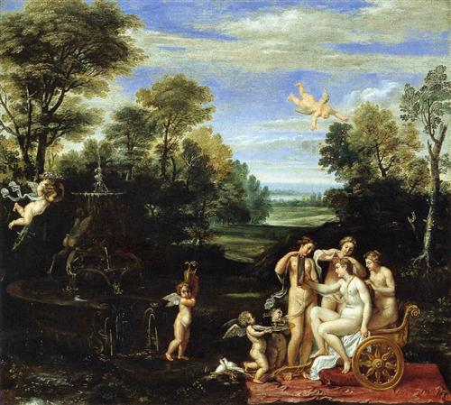 Landscape with the Toilet of Venus - Annibale Carracci