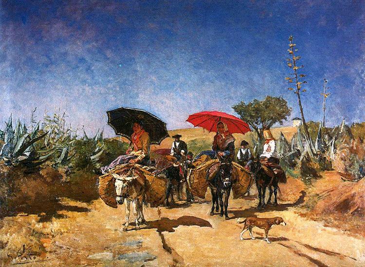 Volta do mercado, 1886 - António Carvalho da Silva Porto