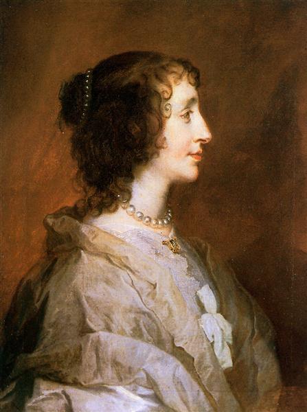Queen Henrietta Maria, 1638 - Anthony van Dyck