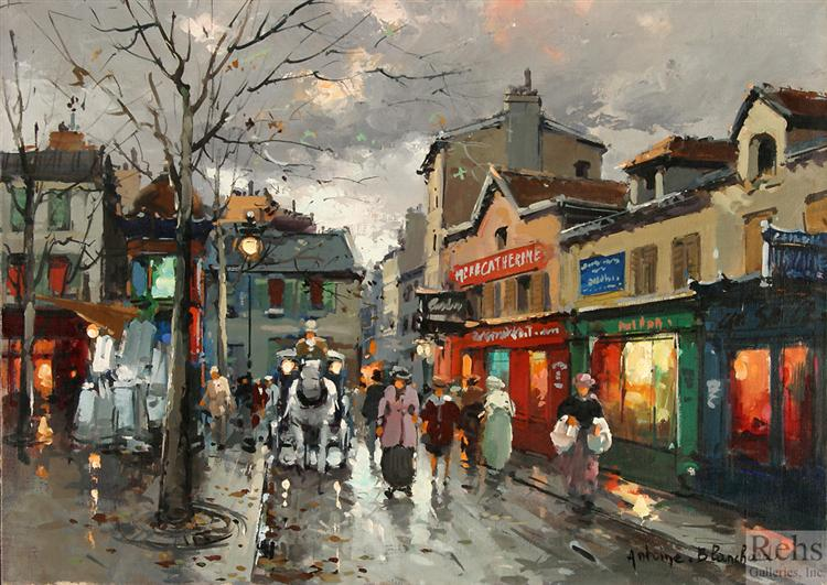 Rue Norvins, place du Tertre Montmartre - Blanchard Antoine