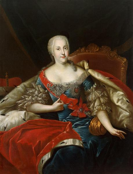 Johanna Holstein Gottorp - Antoine Pesne