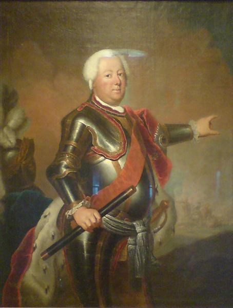 Portrait of Frederick William I of Prussia, c.1733 - Antoine Pesne