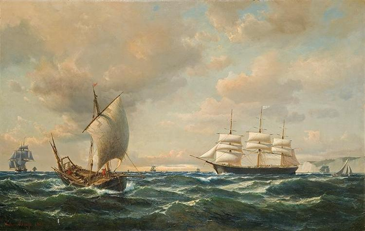 Sailing off the English coast, 1862 - Anton Melbye