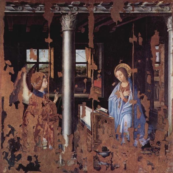 Annunciation, 1474 - Антонелло да Мессіна