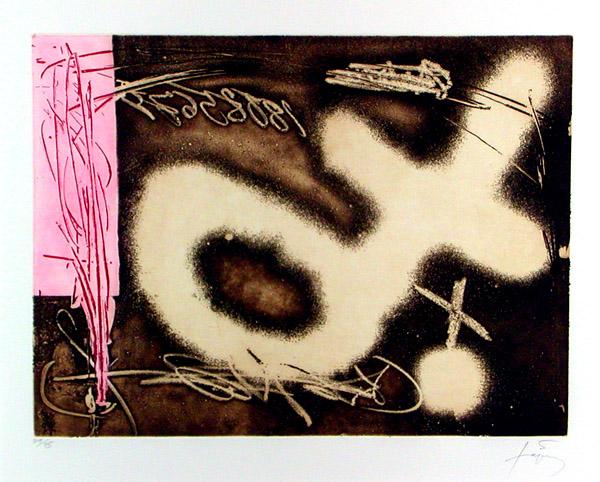 El Péndulo Inmóvil I, 1982 - Antoni Tàpies
