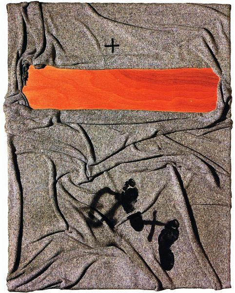 Blanket with tracks, 2001 - Antoni Tapies