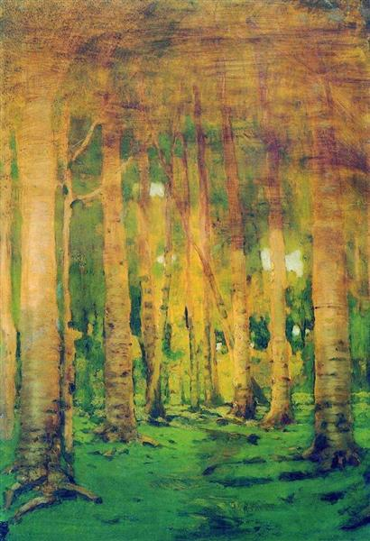 A Birch Grove. Spots of sunlight, c.1895 - Arkhip Kuindzhi