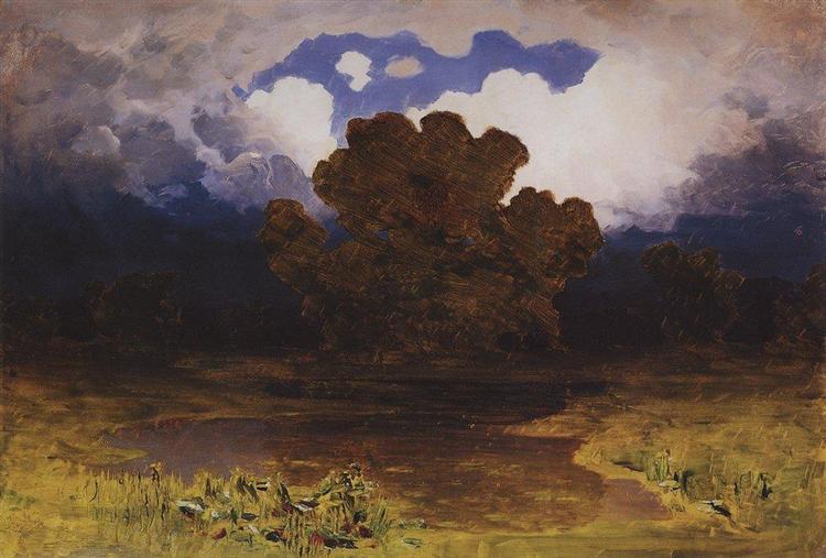 Forest Lake. Cloud, 1890 - Arkhip Kuindzhi