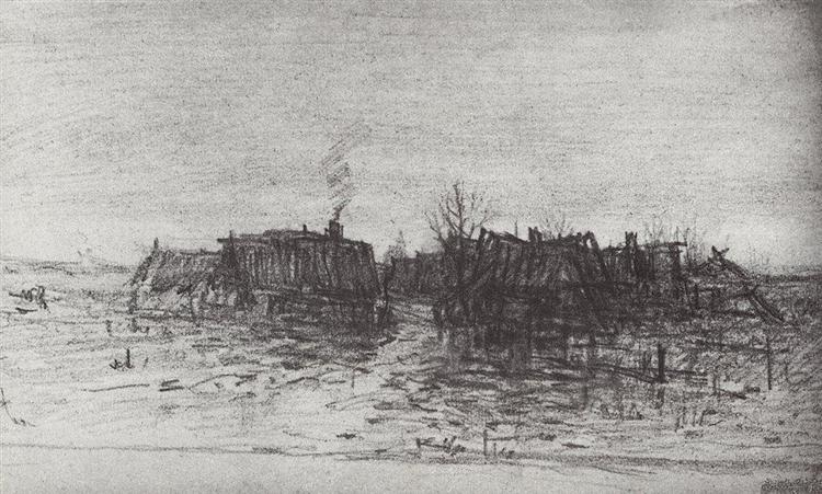 Забытая деревня, 1873 - Архип Куинджи