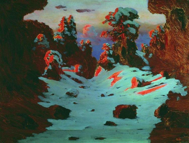 Sunset Effect, c.1890 - Arkhip Kuindzhi
