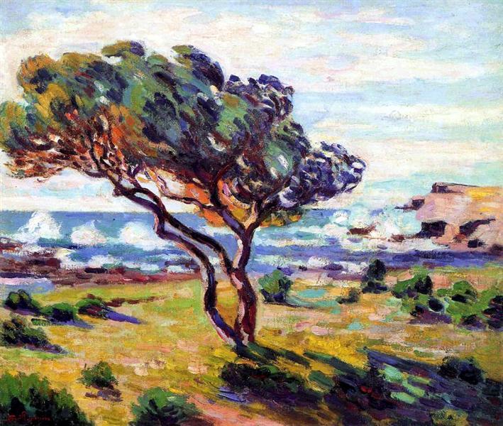 Rafales de vent, Le Brusc, 1911 - Armand Guillaumin