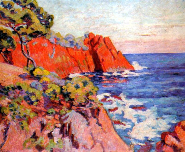 Rochers sur la Côte à Agay, 1907 - Armand Guillaumin