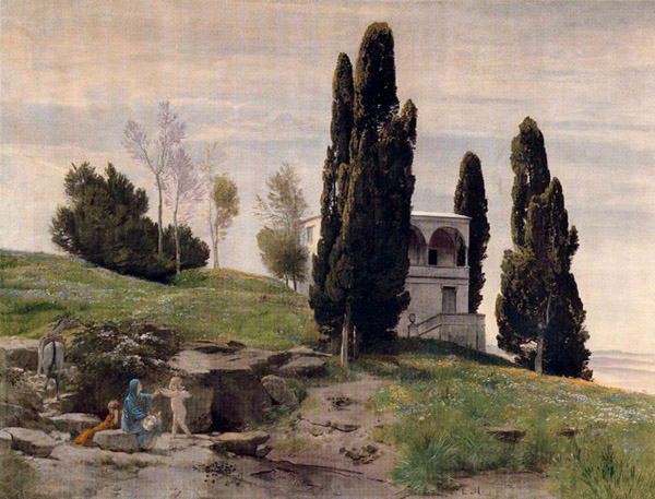 The Rest on the Flight into Egypt - Arnold Böcklin