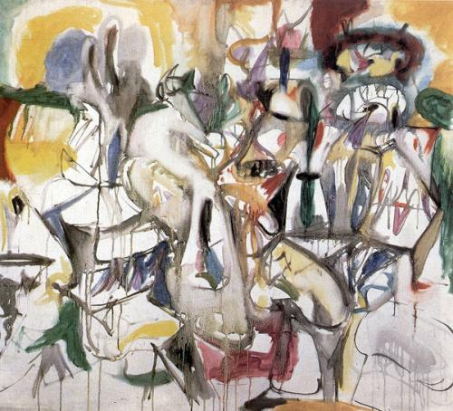 How My Mother's Embroidered Apron Unfolds in My Life, 1944 - Arshile Gorky