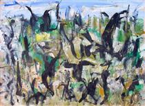 Untitled Landscape, Woodstock (No.D153) - Arthur Pinajian