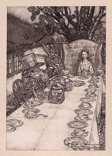 A Mad Tea Party - Arthur Rackham