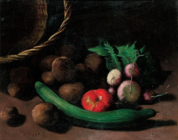 Still Life with Vegetables - Arthur Segal