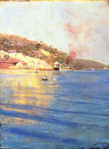 The Point Wharf, Mosman Bay - Arthur Streeton